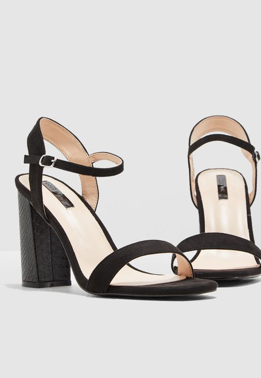 Wide Fit Talia Block Sandal