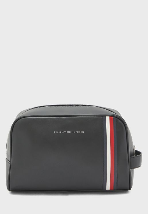 Logo Zip Around Wash Bag