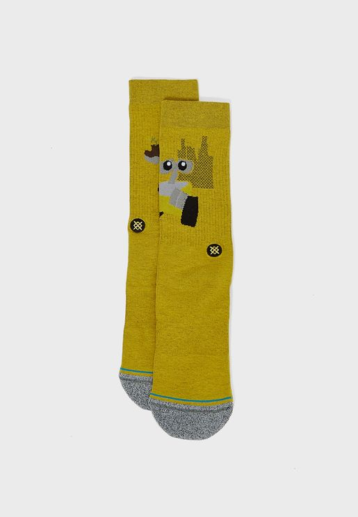 Wall E Crew Socks