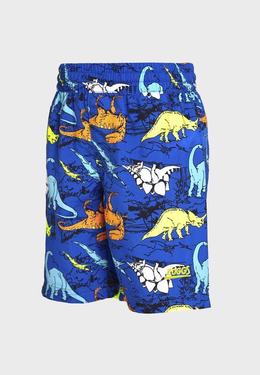 Kids Dino Land Swimming Shorts