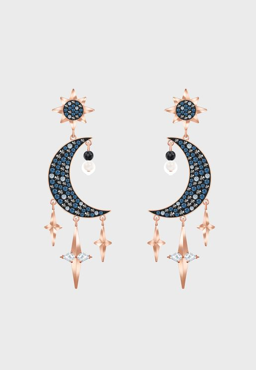 Swa Symbolic Pierced Drop Earrings