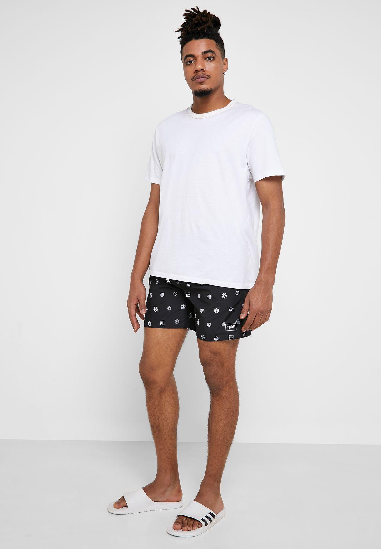 "Leisure 16"" Printed Swim Shorts"