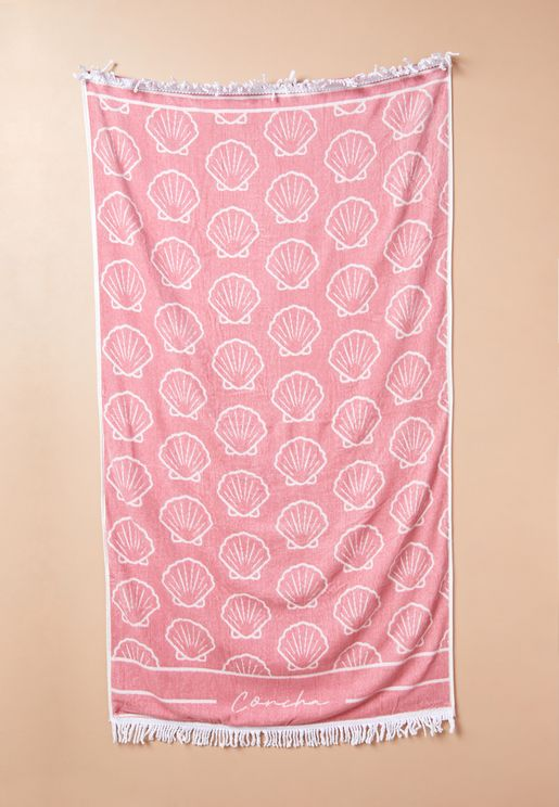 Shell Rectangle Beach Towel