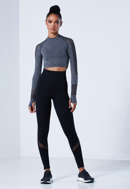 Mesh Paneled Leggings