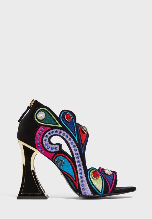 Roxie High Heel Peep Toe Sandal