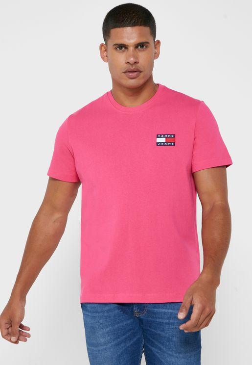 Logo Badge Crew Neck T-Shirt