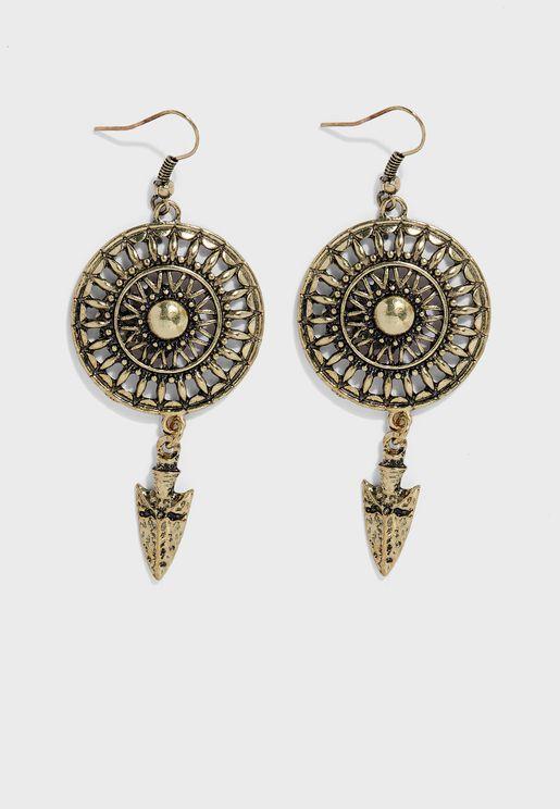 Arrow Tribal Earrings