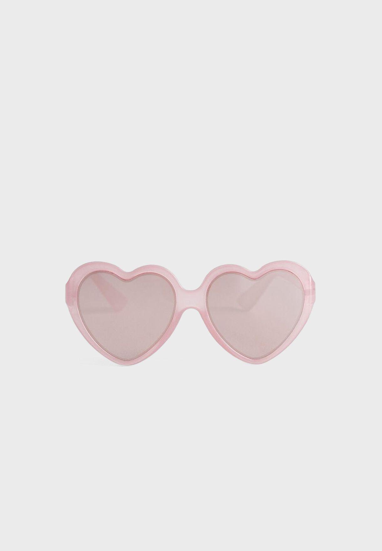 نظارة شمسية شكل قلب للاطفال