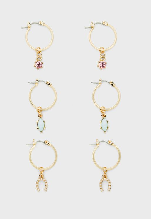 Multipack Luxe Layers Hoop Earrings