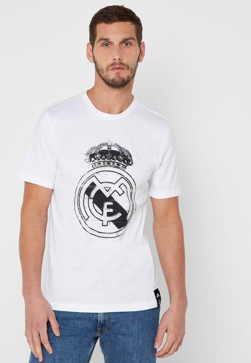 تيشيرت بشعار نادي ريل مدريد لكرة القدم