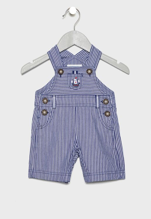 Infant Striped Dungaree