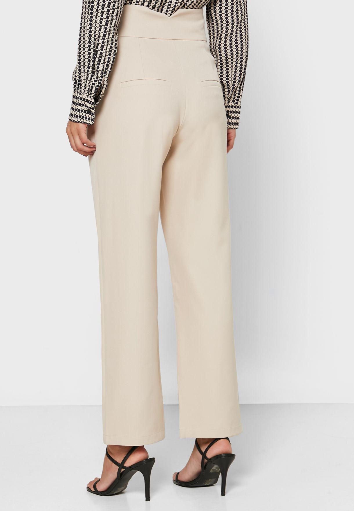 Buckle Waist Pants