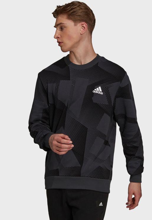 3 Bar Graphic Sweatshirt