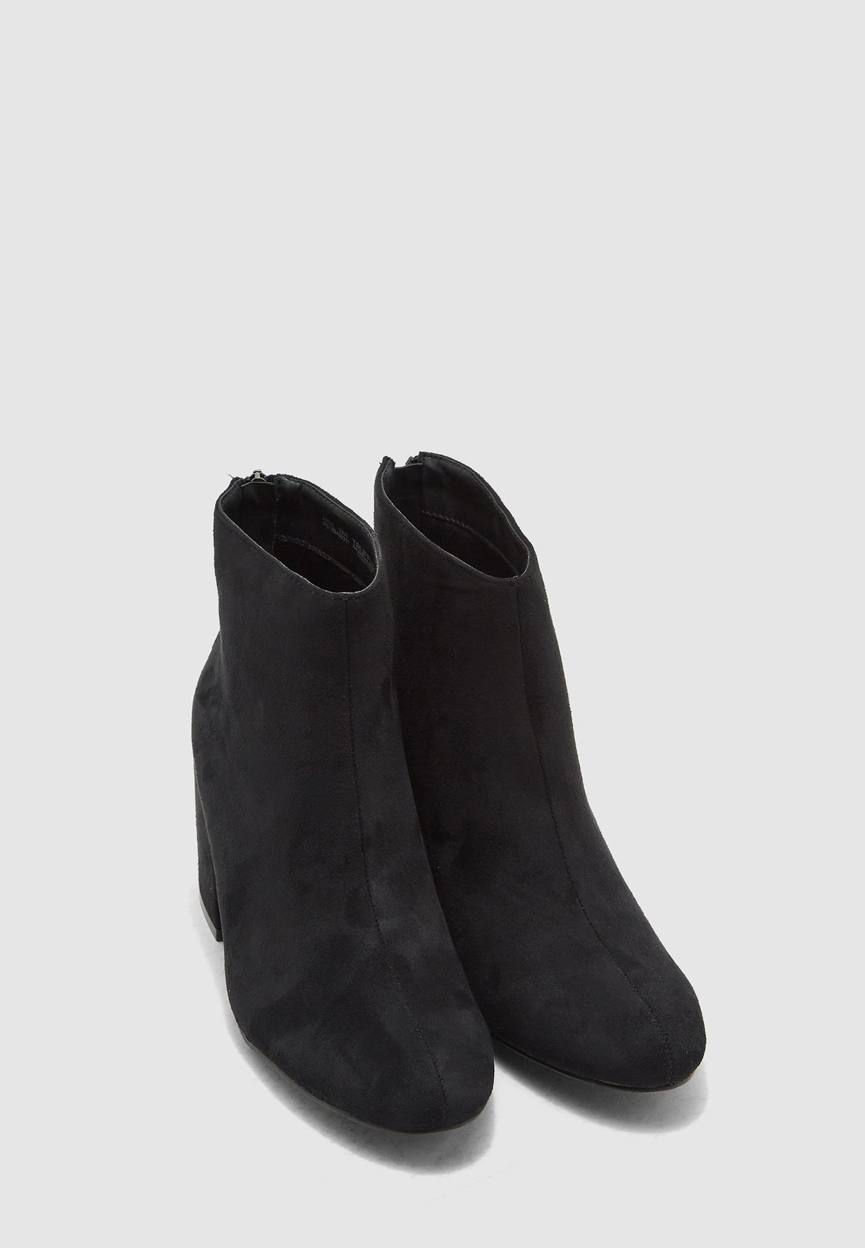Ankle Boots In Faux Suede