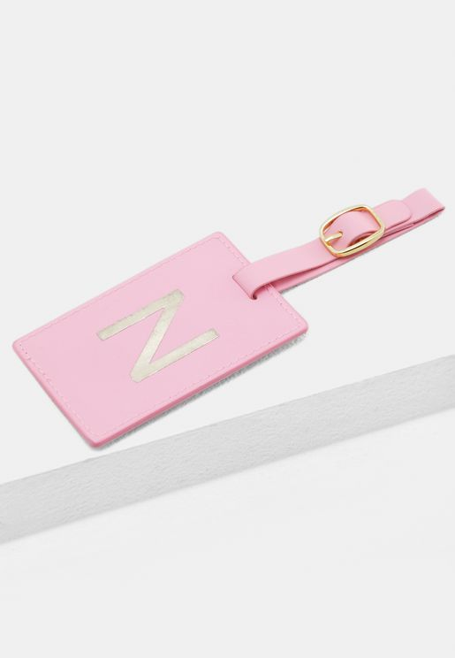 N Monogram Luggage Tag
