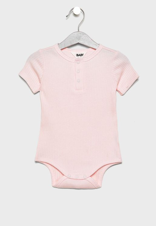Infant Button Detail Bodysuit