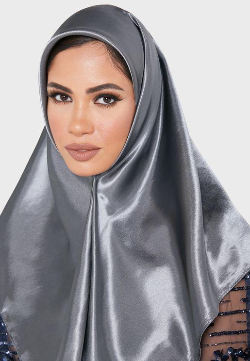 Plain Satin Square Headscarf