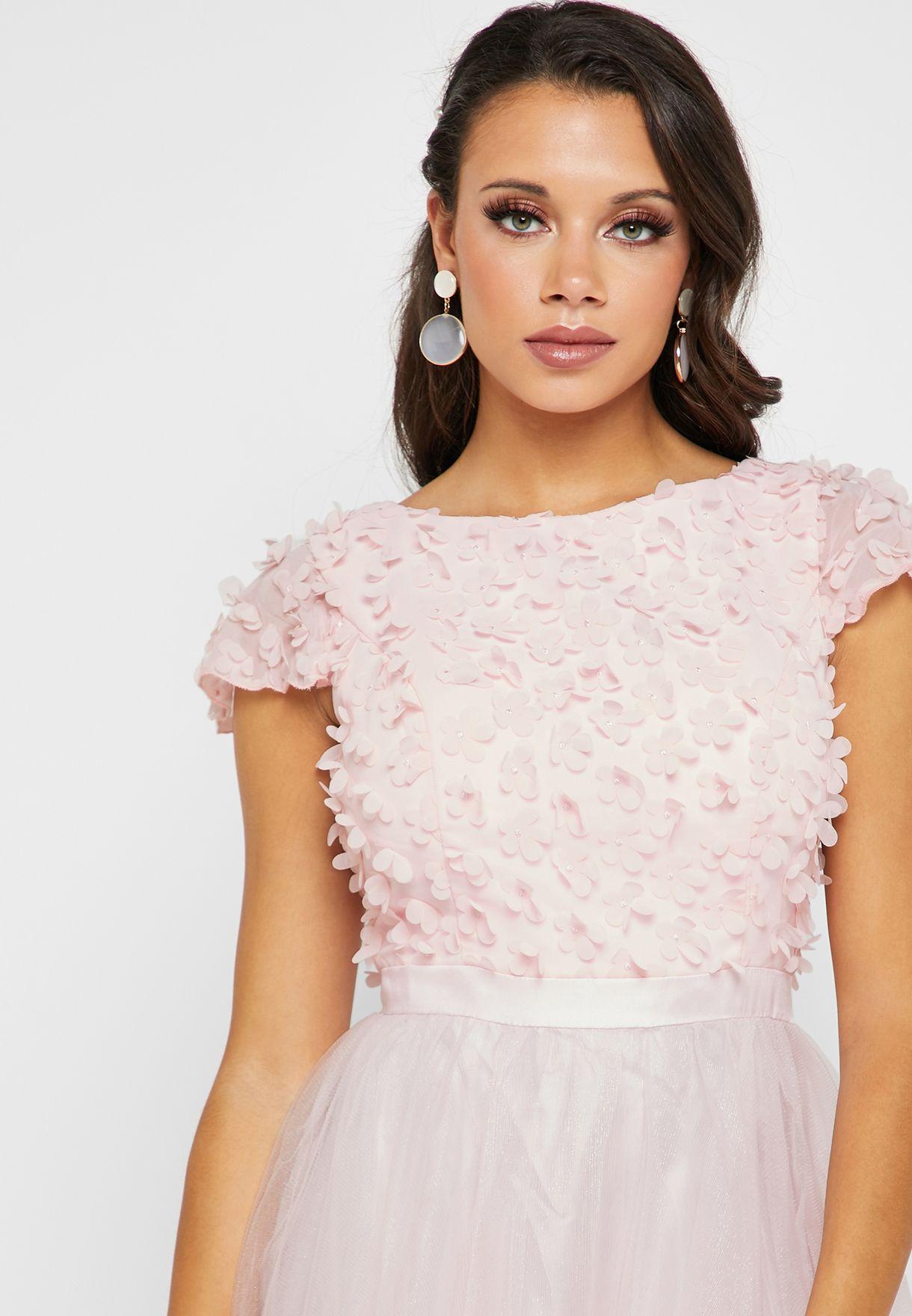 Tie Back Lace Top Dress