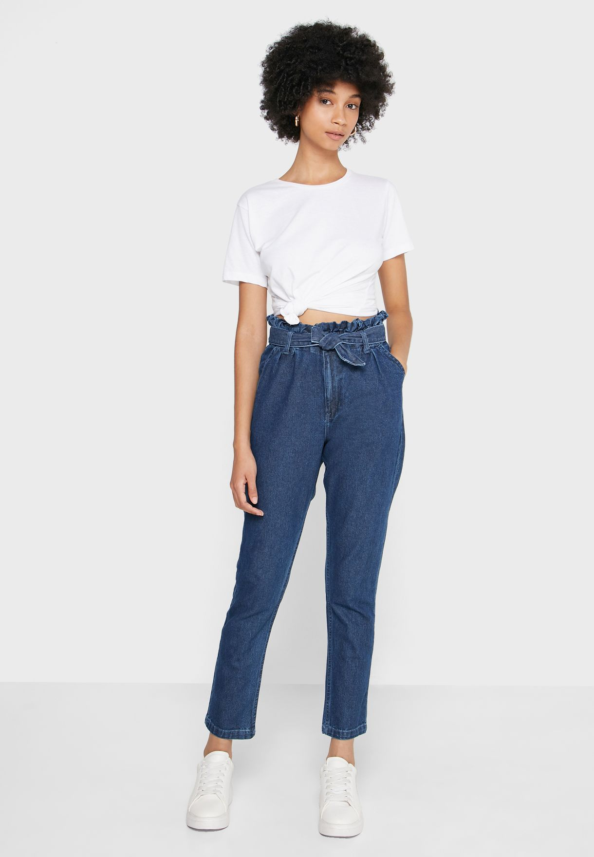 Paperbag Waisted Jeans