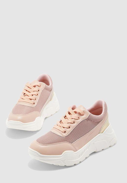 Casual Low Top Sneaker - Blush