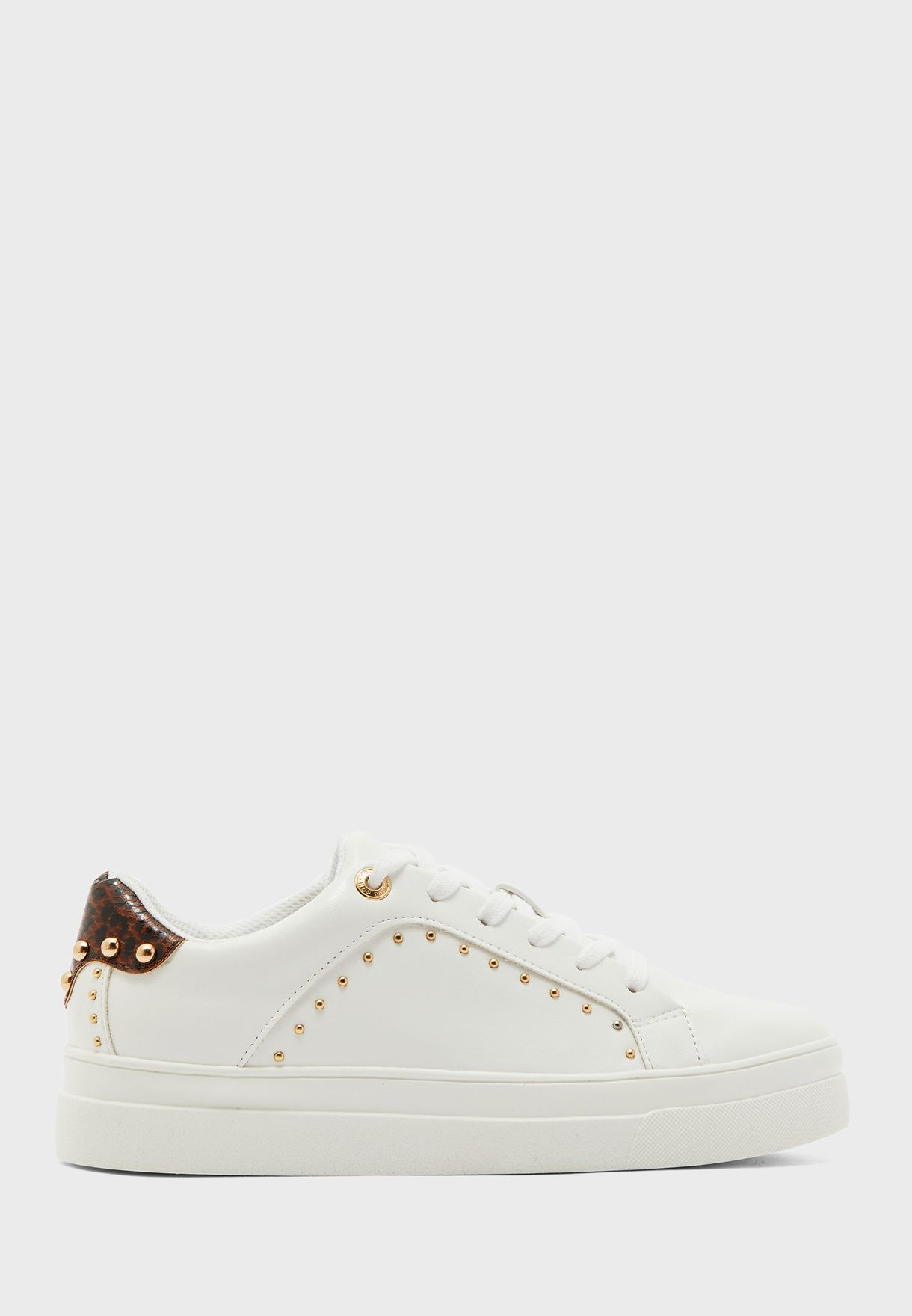 Buy Topshop white Cyrus Studded Sneaker