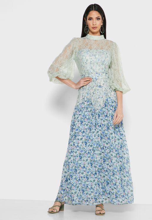 فستان بنمط كتل الالوان