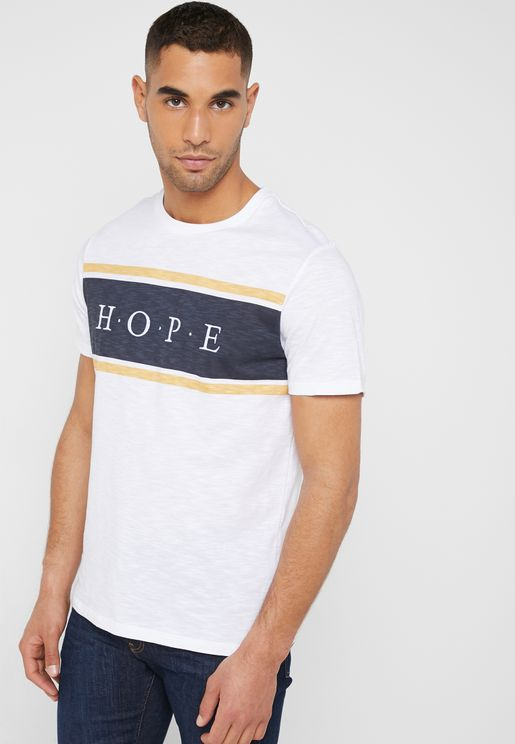 Hope Embroidery  Crew Neck T-Shirt