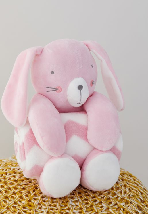 طقم بطانية ولعبة ارنب
