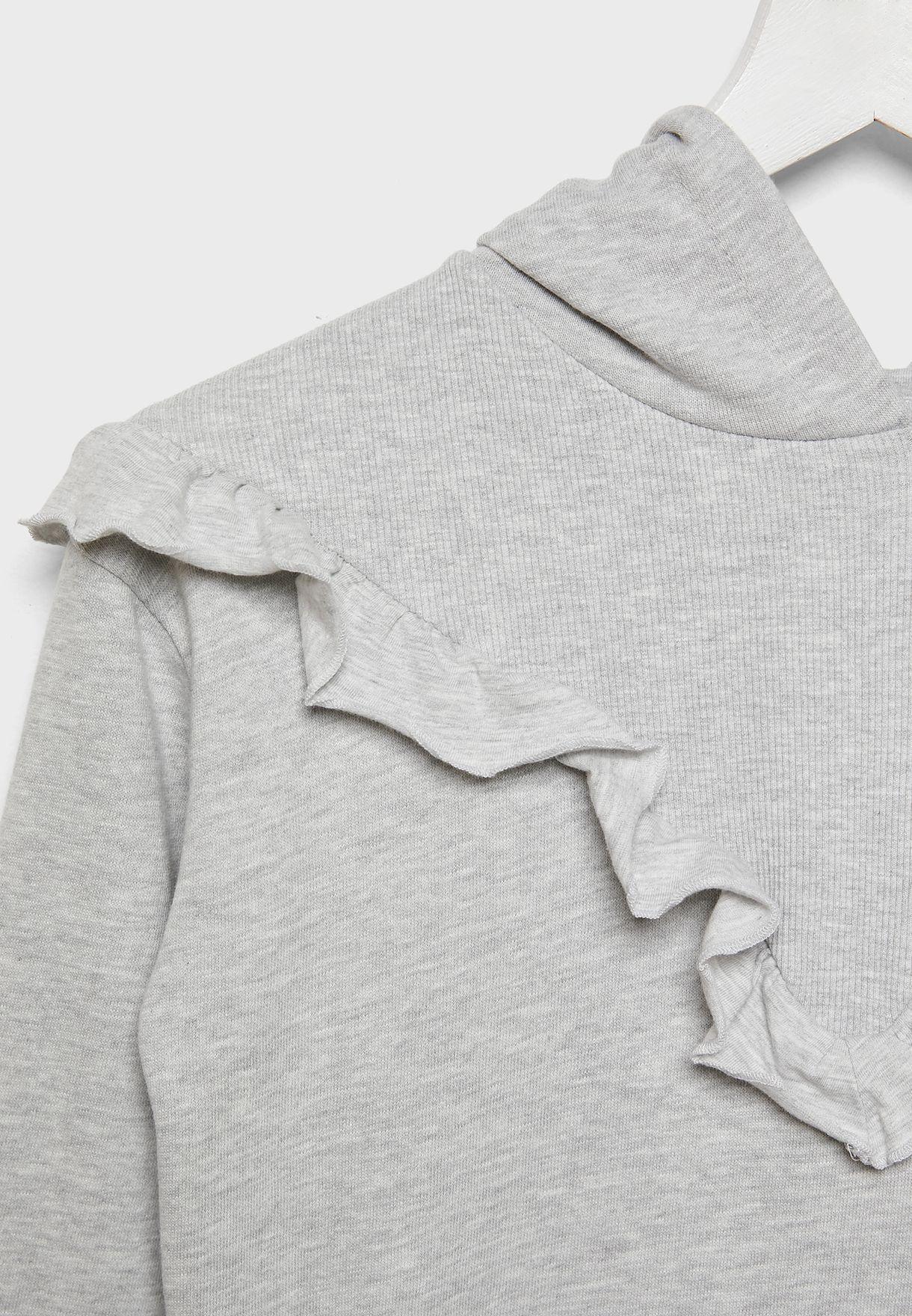 Kids Ruffle Detail Sweatshirt