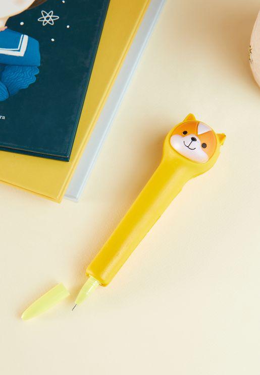 قلم حبر جاف بشكل كلب