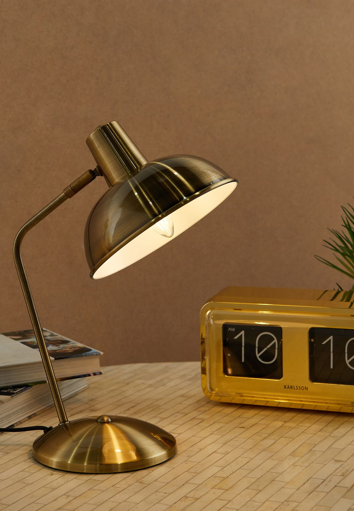 Hood Brushed Gold Table Lamp