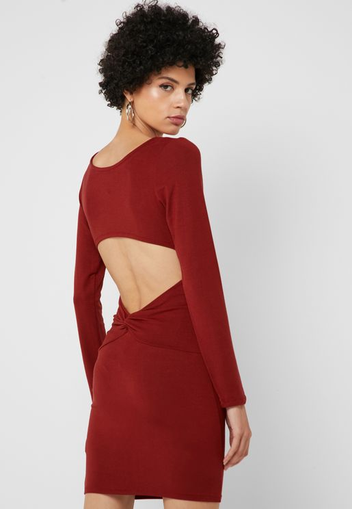 Back Cut-Out Bodycon Dress