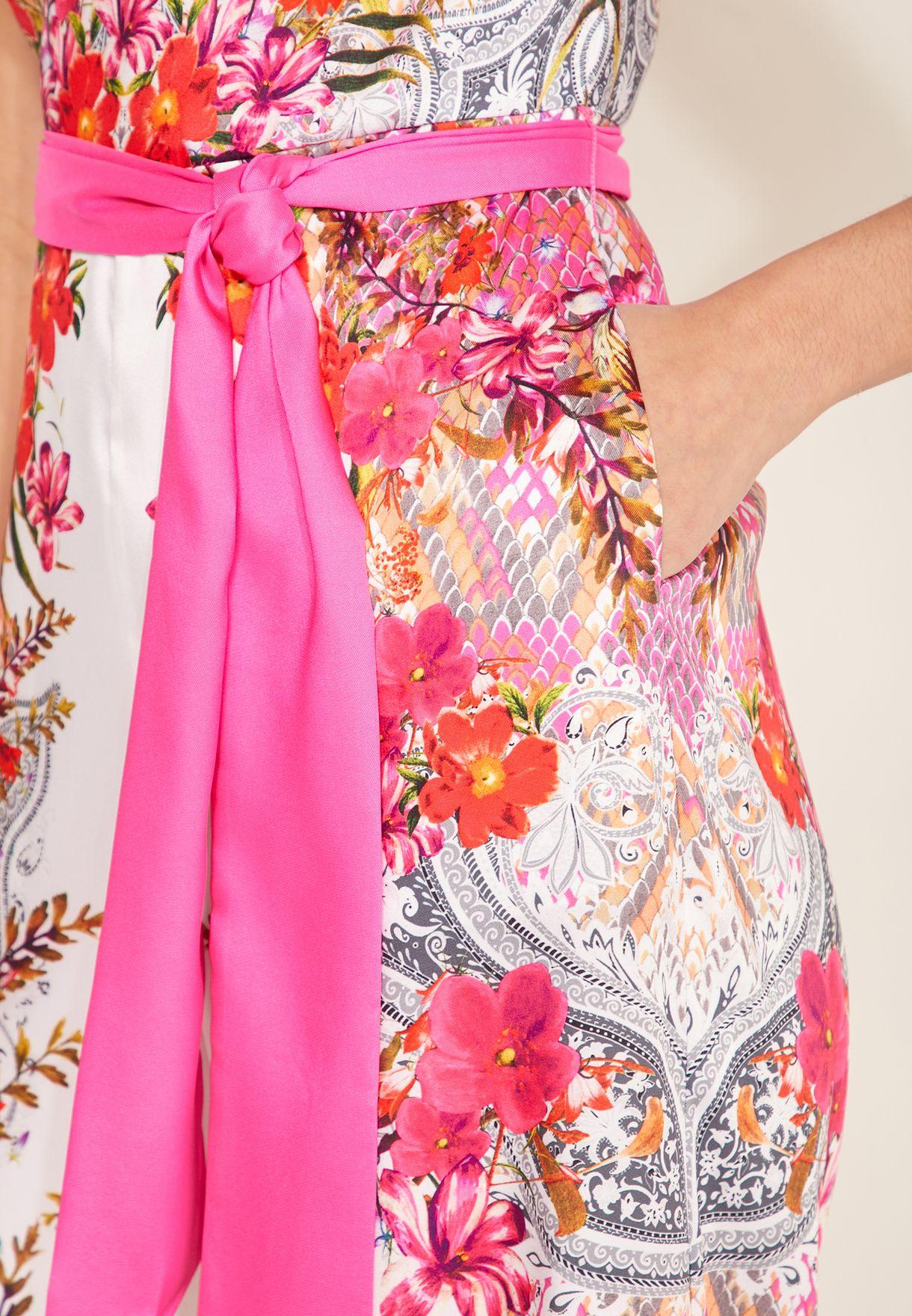 Solana Floral Print Jumpsuit