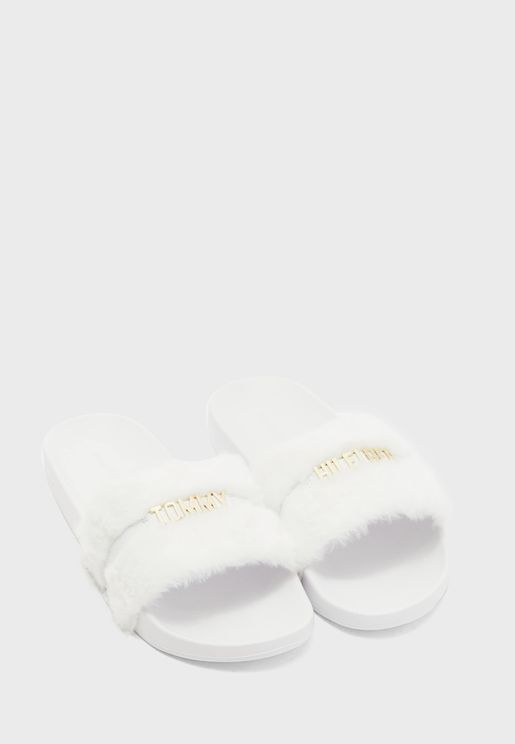 Block Branding Flat Sandal