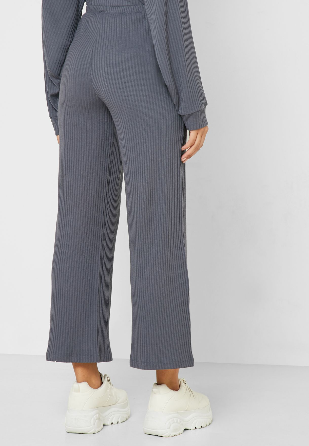 Ribbed Wide Leg Pants