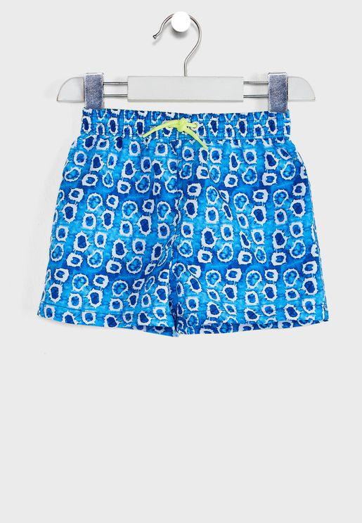 Infant Tie Dye Print Swim Shorts