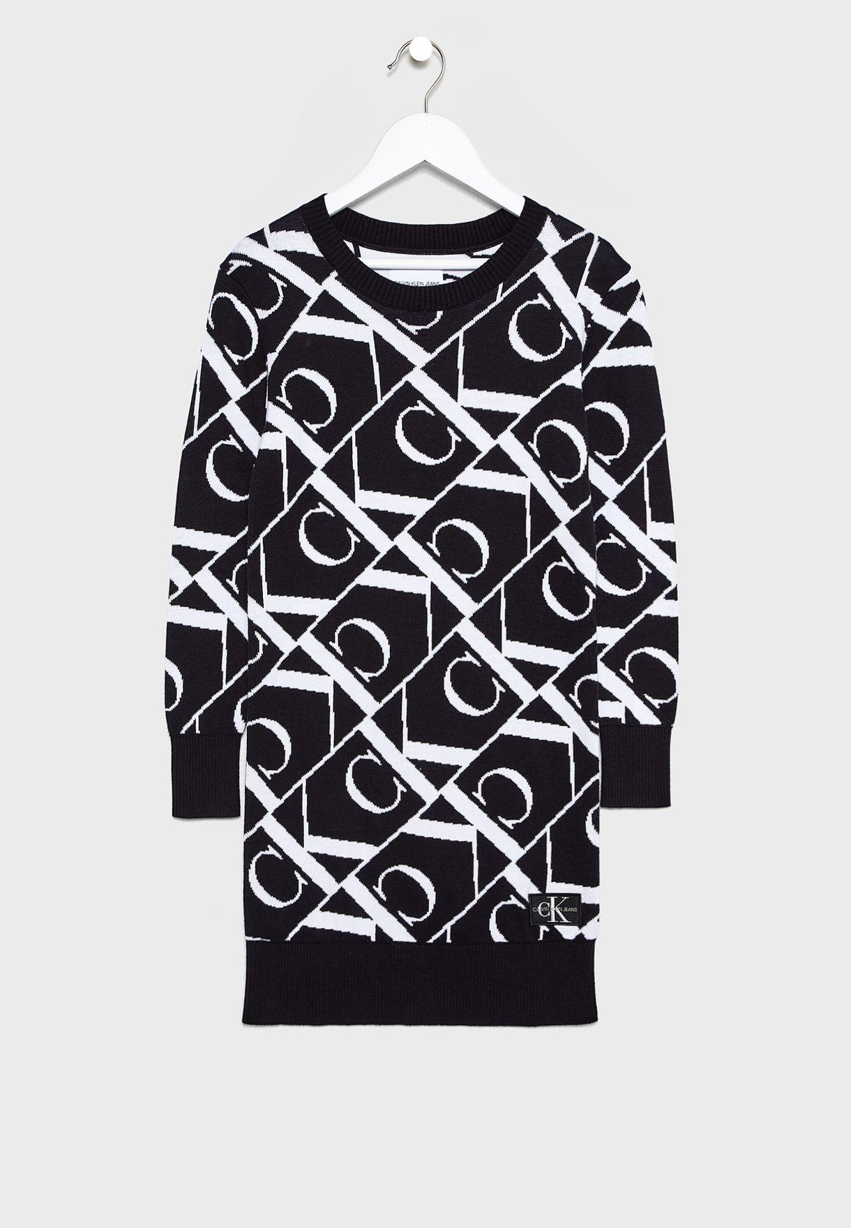 Kids Jacquard Sweater Dress