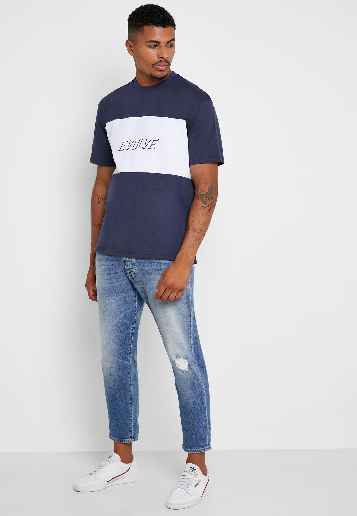 Sport Block Crew Neck T-Shirt