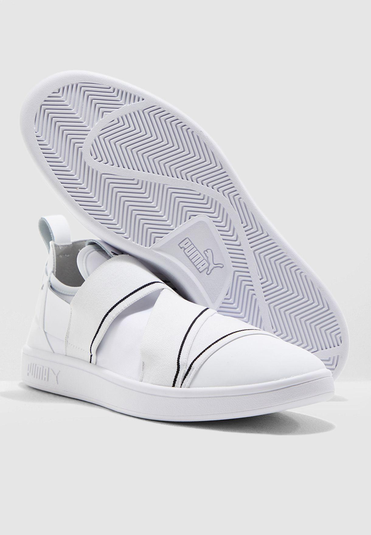 Buy PUMA white Smash V2 Slip On for Men