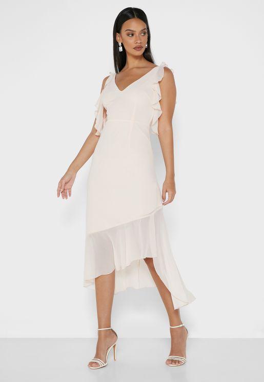 Frill Yoke Dress