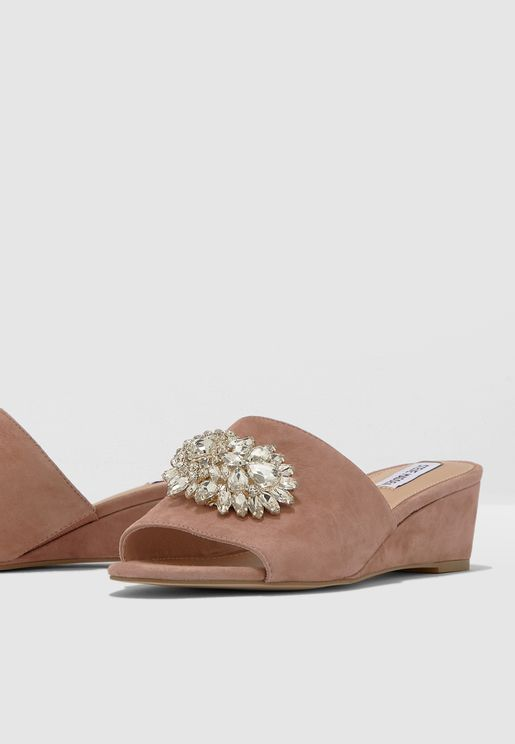 Lofty Wedge Sandal - Blush
