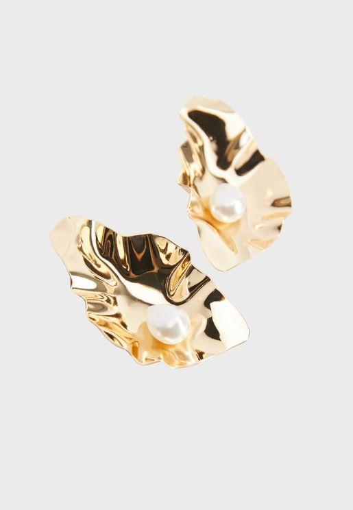 Cecile Pearl Detail Stud Earrings
