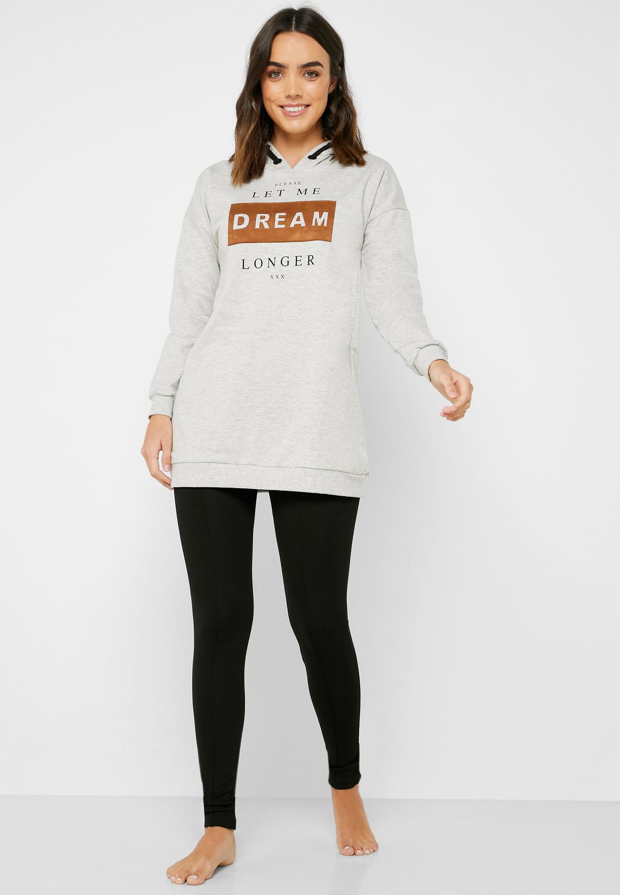 Graphic Hoodie & Leggings Set