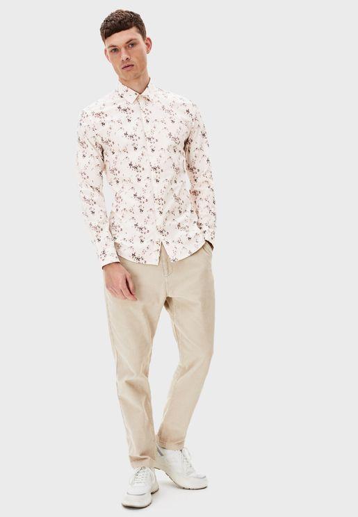 قميص مزين بطباعة ازهار