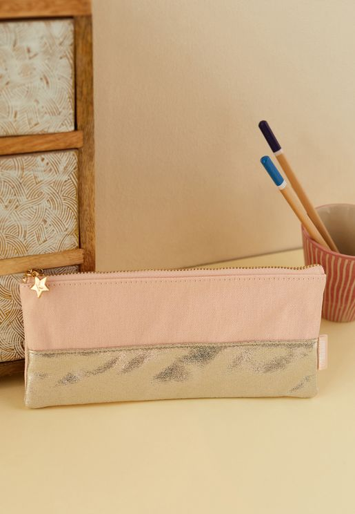 Pink & Gold Pencil Case