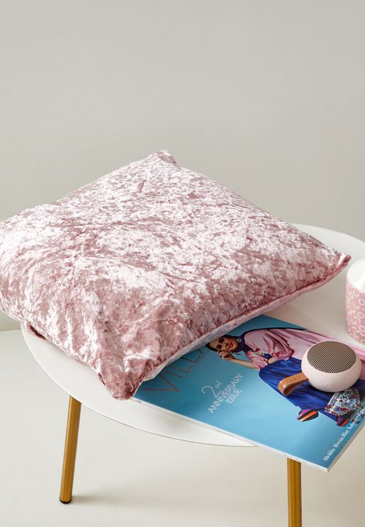 Velour Pink Cushion With Insert 45x45 cm