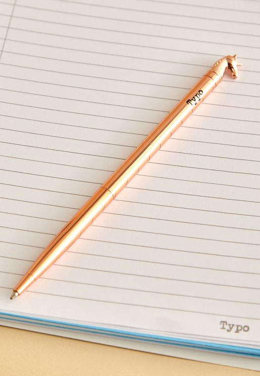 Rose Gold Unicorn Pen