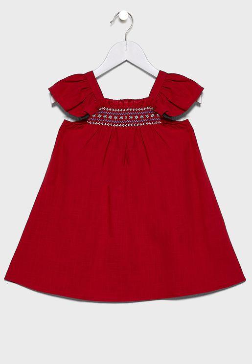 Kids Flutter Sleeve Dress