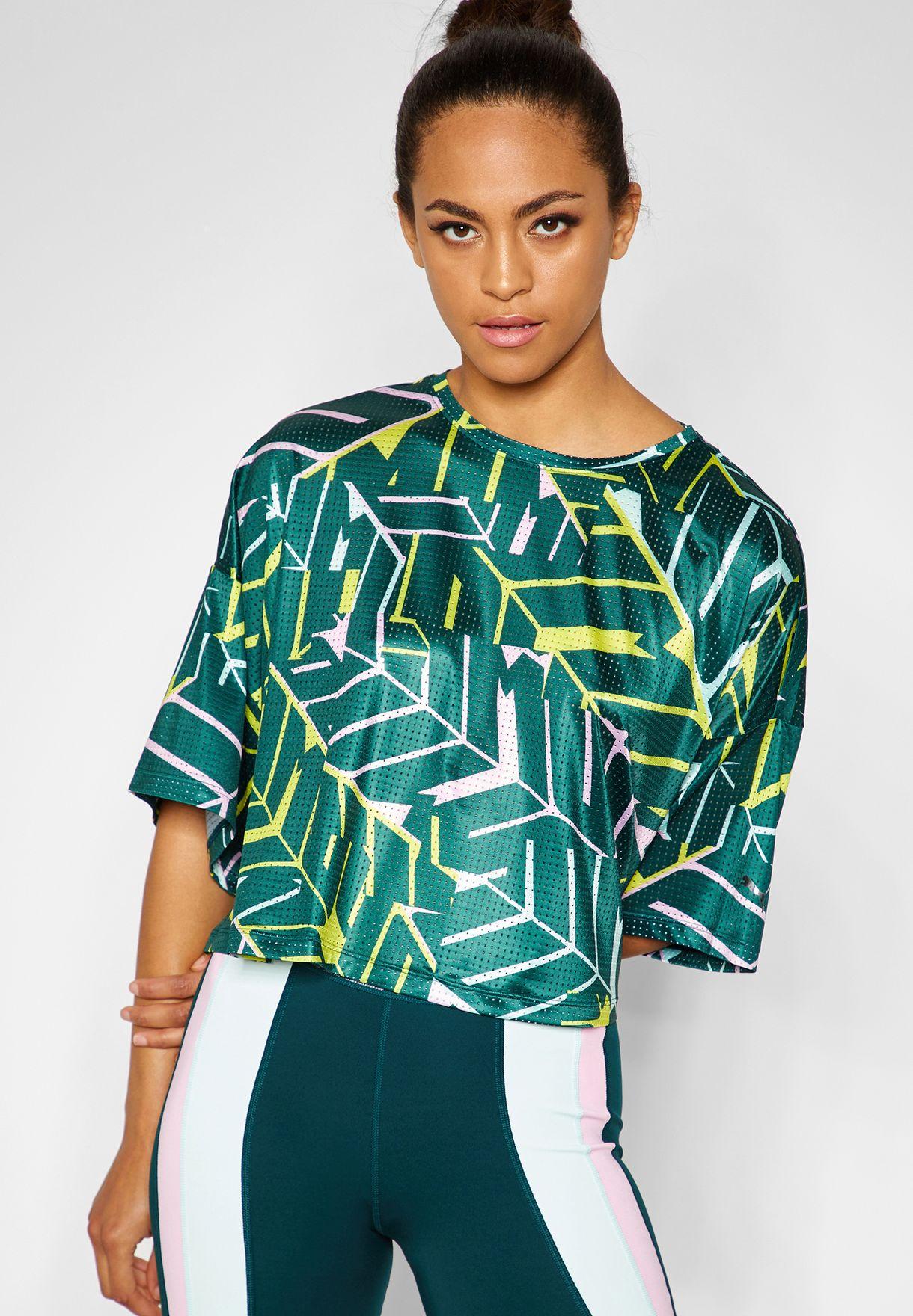 10b74e91b632 Shop PUMA prints Trailblazer Cosmic T-Shirt 51737703 for Women in ...
