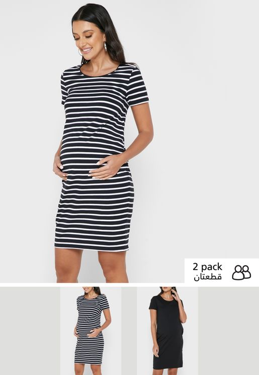 2 Pack Plain Dresses